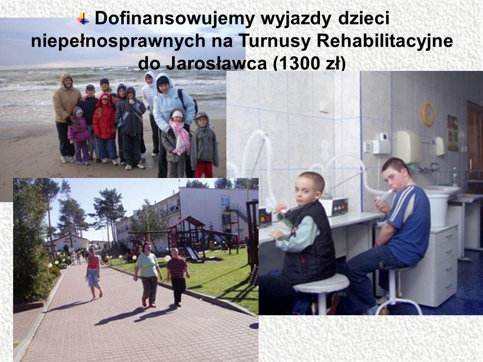 Dofinansowujemy wyjazdy dzieci niepełnosprawnych na Turnusy Rehabilitacyjne do Jarosławca (1300 zł)