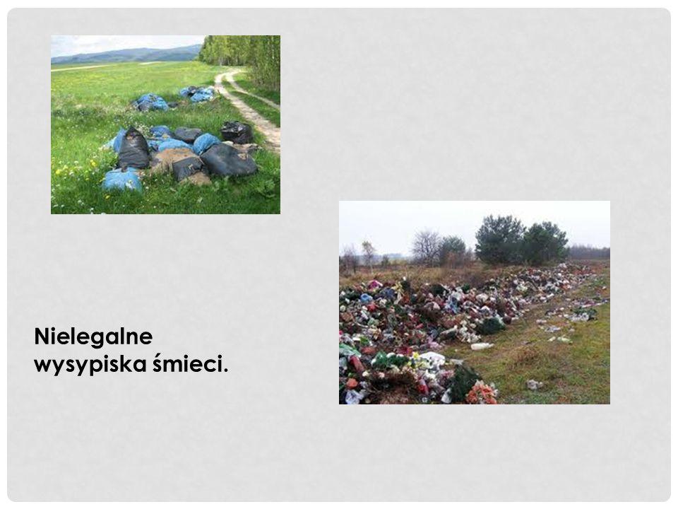 Nielegalne wysypiska śmieci.
