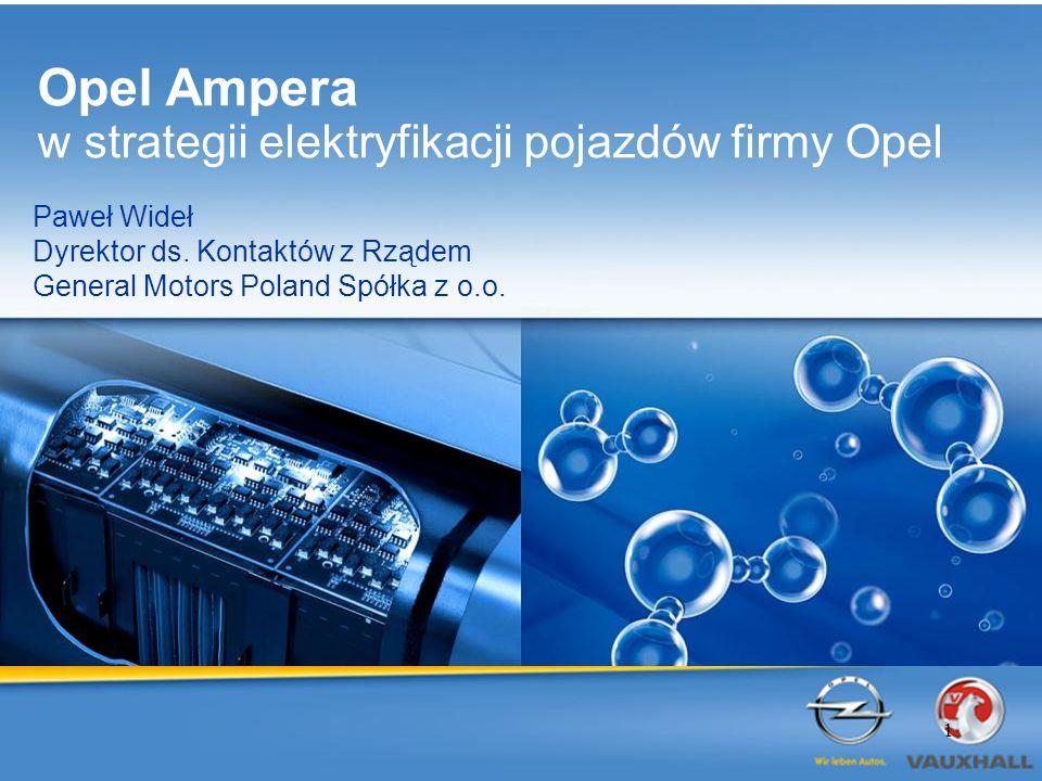 BEV Samochód jutra będzie napędzany elektrycznością Opel Ampera Opel HydroGen4 2