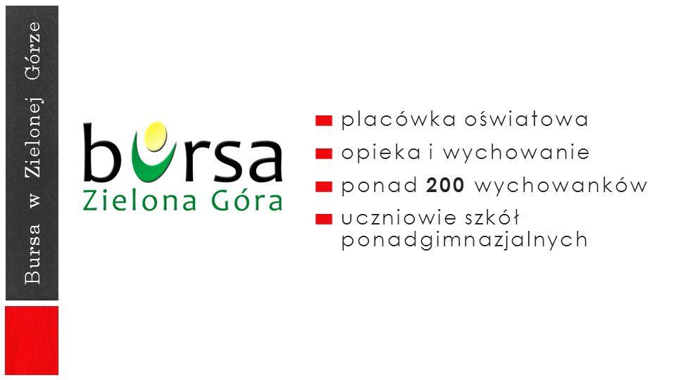 Bursa w Zielonej Górze placówka oświatowa opieka i wychowanie ponad 200 wychowanków uczniowie szkół ponadgimnazjalnych