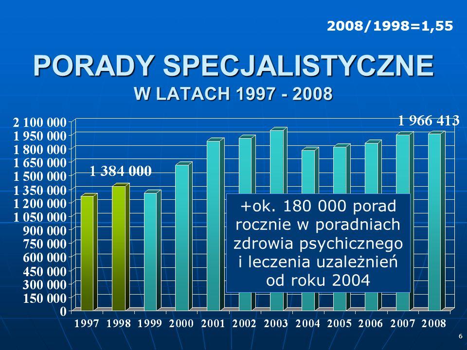 6 PORADY SPECJALISTYCZNE W LATACH 1997 - 2008 +ok.
