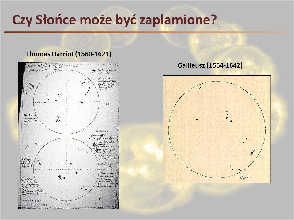 Czy Słońce może być zaplamione? Thomas Harriot (1560-1621) Galileusz (1564-1642)