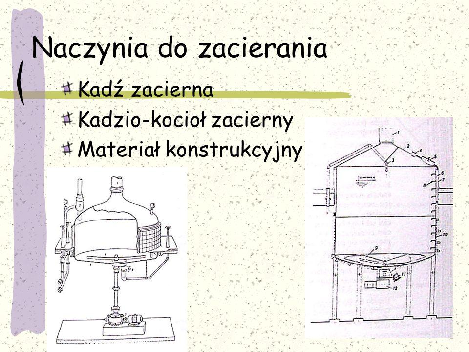 Naczynia do zacierania Kadź zacierna Kadzio-kocioł zacierny Materiał konstrukcyjny