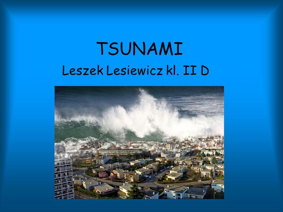 TSUNAMI Leszek Lesiewicz kl. II D