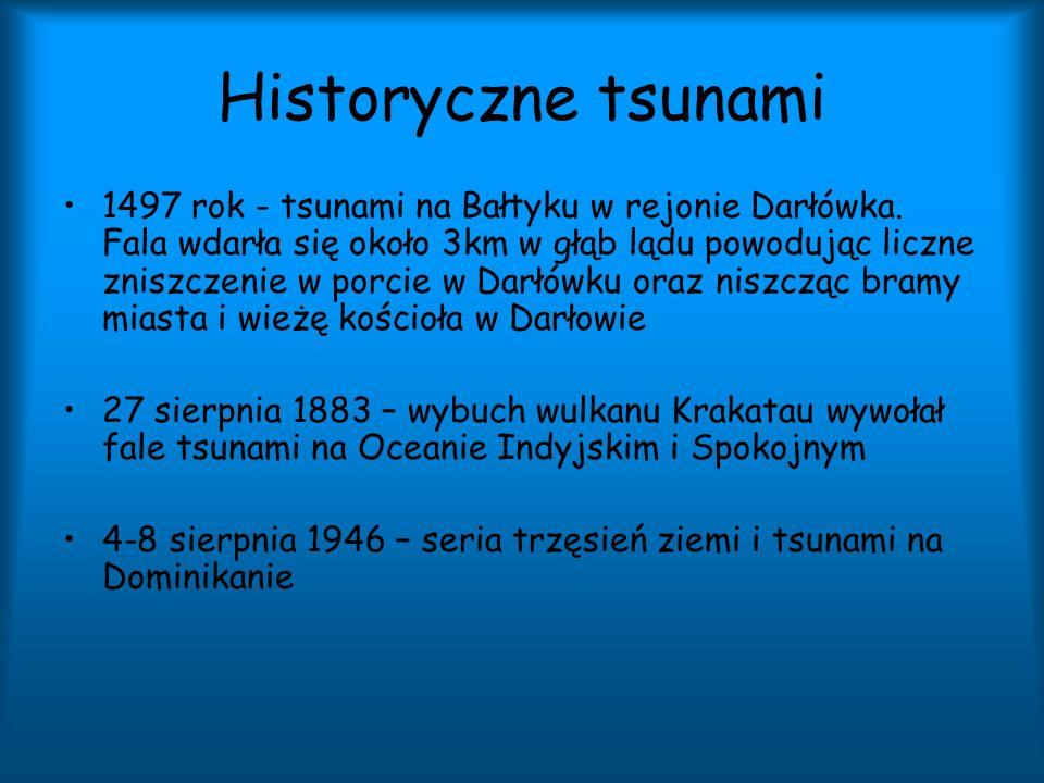 Historyczne tsunami 1497 rok - tsunami na Bałtyku w rejonie Darłówka. Fala wdarła się około 3km w głąb lądu powodując liczne zniszczenie w porcie w Da