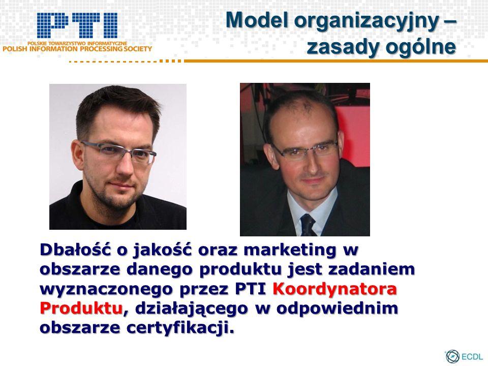 Dbałość o jakość oraz marketing w obszarze danego produktu jest zadaniem wyznaczonego przez PTI Koordynatora Produktu, działającego w odpowiednim obszarze certyfikacji.