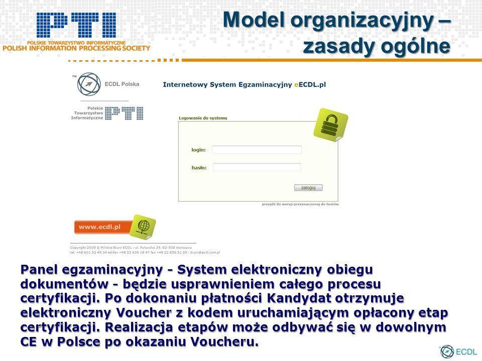 Panel egzaminacyjny - System elektroniczny obiegu dokumentów - będzie usprawnieniem całego procesu certyfikacji. Po dokonaniu płatności Kandydat otrzy