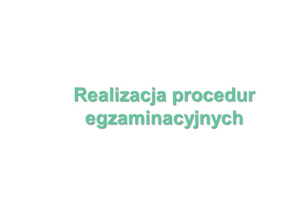 Realizacja procedur egzaminacyjnych