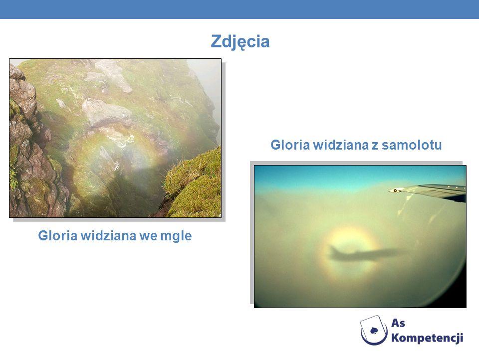 Zdjęcia Gloria widziana we mgle Gloria widziana z samolotu