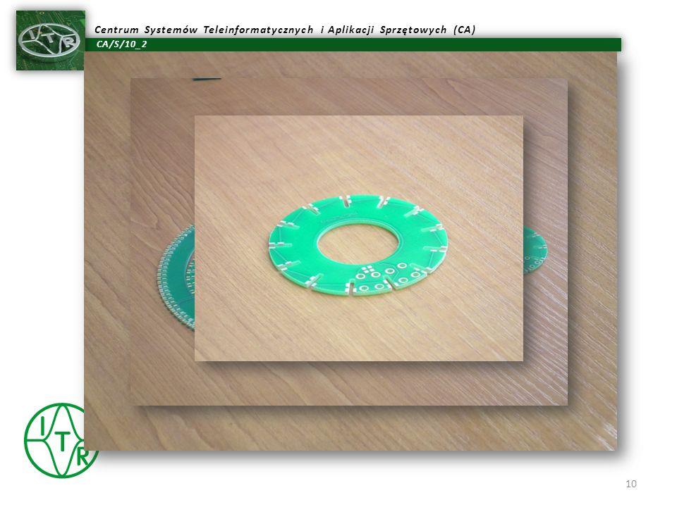 CA/S/10_2 Centrum Systemów Teleinformatycznych i Aplikacji Sprzętowych (CA) Rys.: Wygląd płyt bazowych, w których wlutowywane są płytki wielowarstwowe