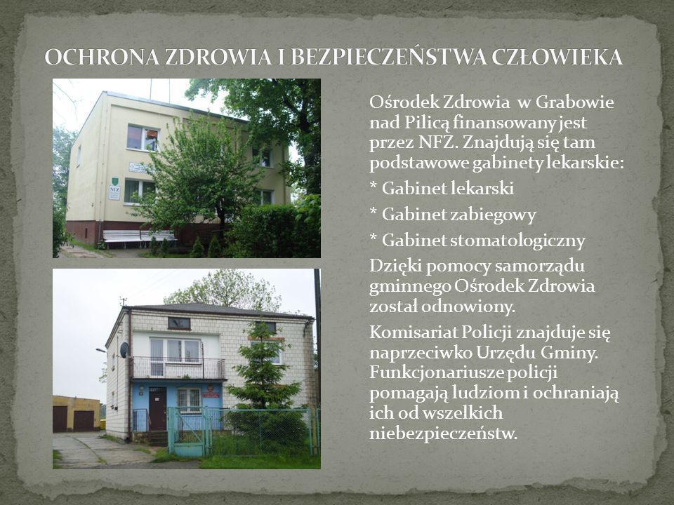 Ośrodek Zdrowia w Grabowie nad Pilicą finansowany jest przez NFZ. Znajdują się tam podstawowe gabinety lekarskie: * Gabinet lekarski * Gabinet zabiego