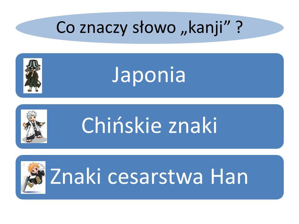 Co znaczy słowo kanji ? JaponiaChińskie znakiZnaki cesarstwa Han