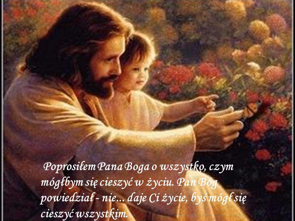 Poprosiłem Pana Boga by dał mi duchowy wzrost.Pan Bóg powiedział - nie...