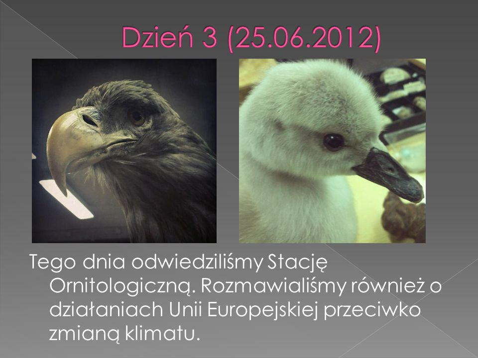 Tego dnia odwiedziliśmy Stację Ornitologiczną. Rozmawialiśmy również o działaniach Unii Europejskiej przeciwko zmianą klimatu.