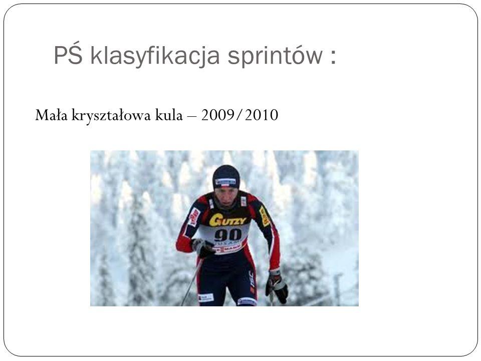 PŚ klasyfikacja sprintów : Mała kryształowa kula – 2009/2010