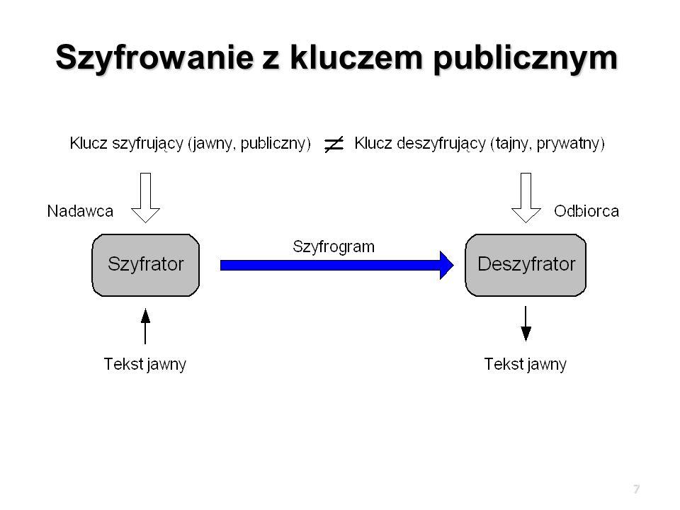 7 Szyfrowanie z kluczem publicznym
