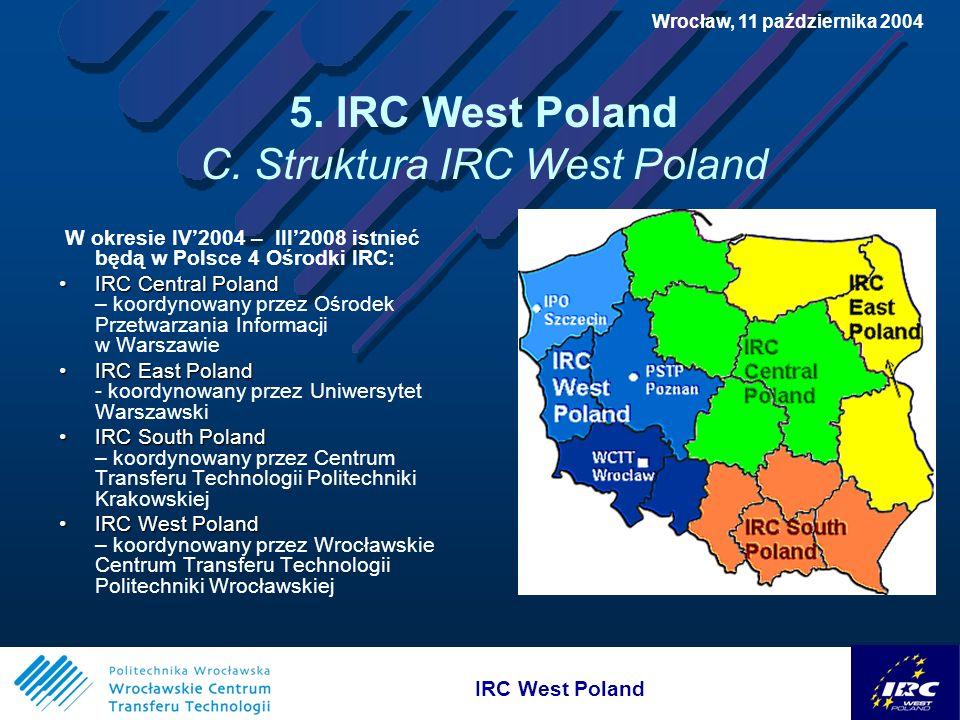 IRC West Poland Wrocław, 11 października 2004 5. IRC West Poland C.