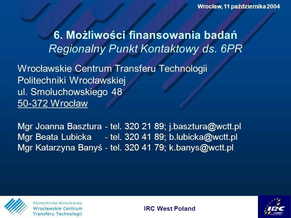 IRC West Poland Wrocław, 11 października 2004 6.