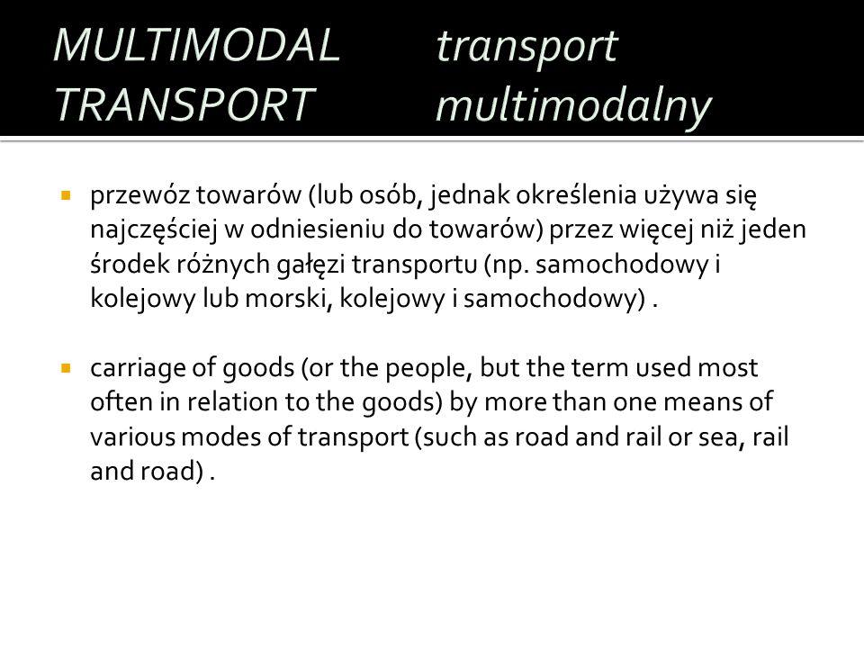 Transport towarów od nadawcy do odbiorcy, tzw.Door to door lub dom-dom.