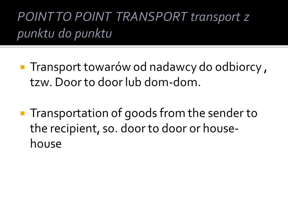 typ transportu polegający na przewozie ładunków środkami przewozowymi różnych gałęzi transportu.