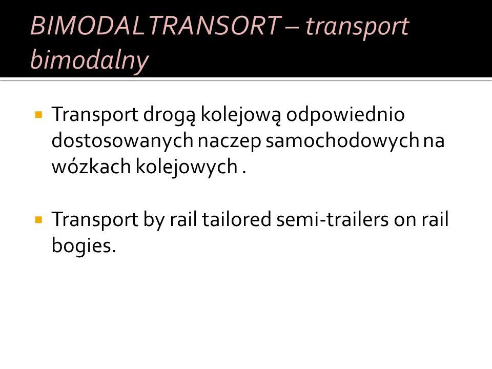 Przewóz całkowitych pojazdów drogowych przez inny środek transportu (np.