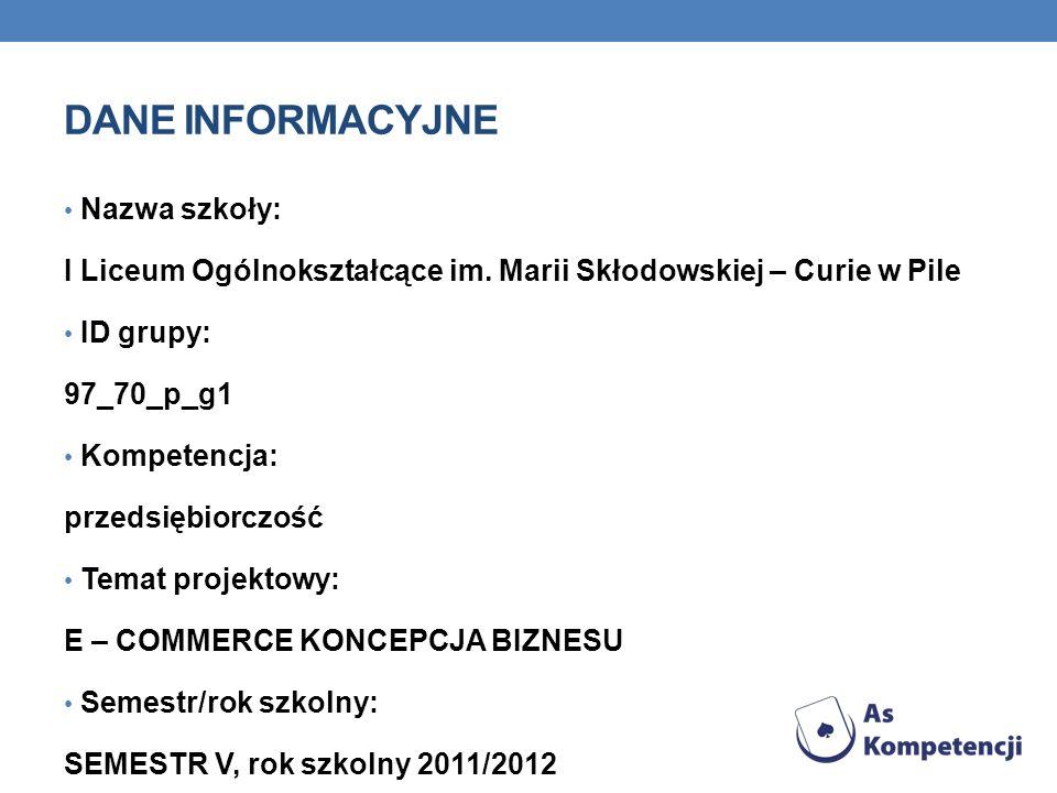 ŹRÓDŁA Eccomerce.edu.pl Ecommerce.hitowy.pl Praktycy.com Infakt.pl Ifirma.pl Kpirek.pl Wfirma.pl Porachunek.pl Biurowdomu.pl Centrum_faktur.pl Shoper.pl Sklepyfirmowe.pl Istore.pl Sote.pl Selly.pl 100sklepow.pl Piotr Słotwiński, Marketing w Internecie E – sklep, jak stworzyć, wypromować i zacząć szybko zarabiać, Komputer Ekspert, Bilioteczka
