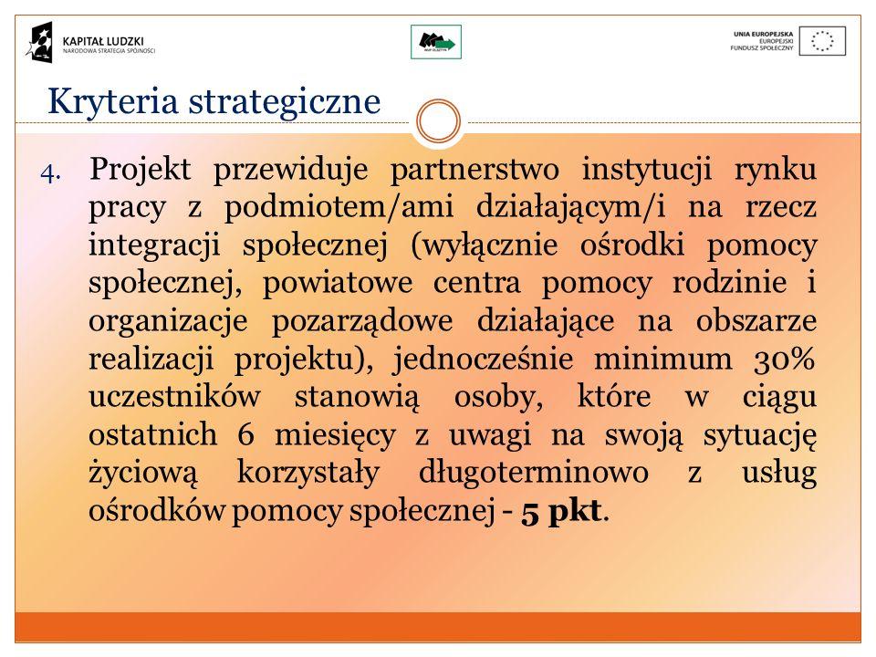 Kryteria strategiczne 4.