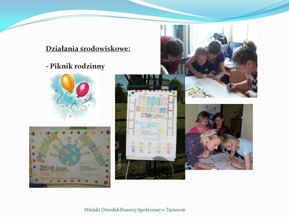 Miejski Ośrodek Pomocy Społecznej w Tarnowie W trakcie Pikniku zorganizowano: - zabawy sportowo rekreacyjne oraz zajęcia tańca/fitness