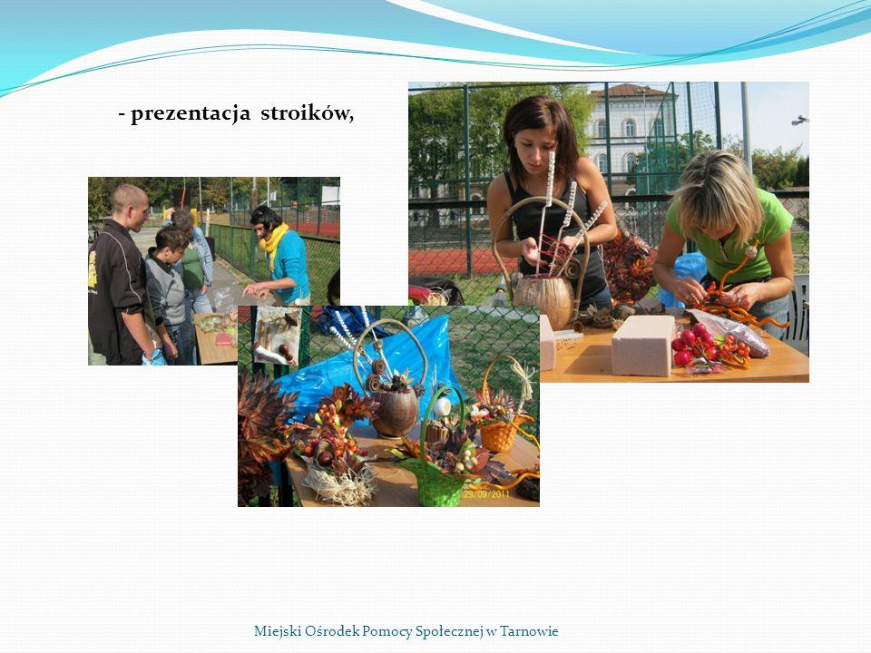 Miejski Ośrodek Pomocy Społecznej w Tarnowie - prezentacja stroików,