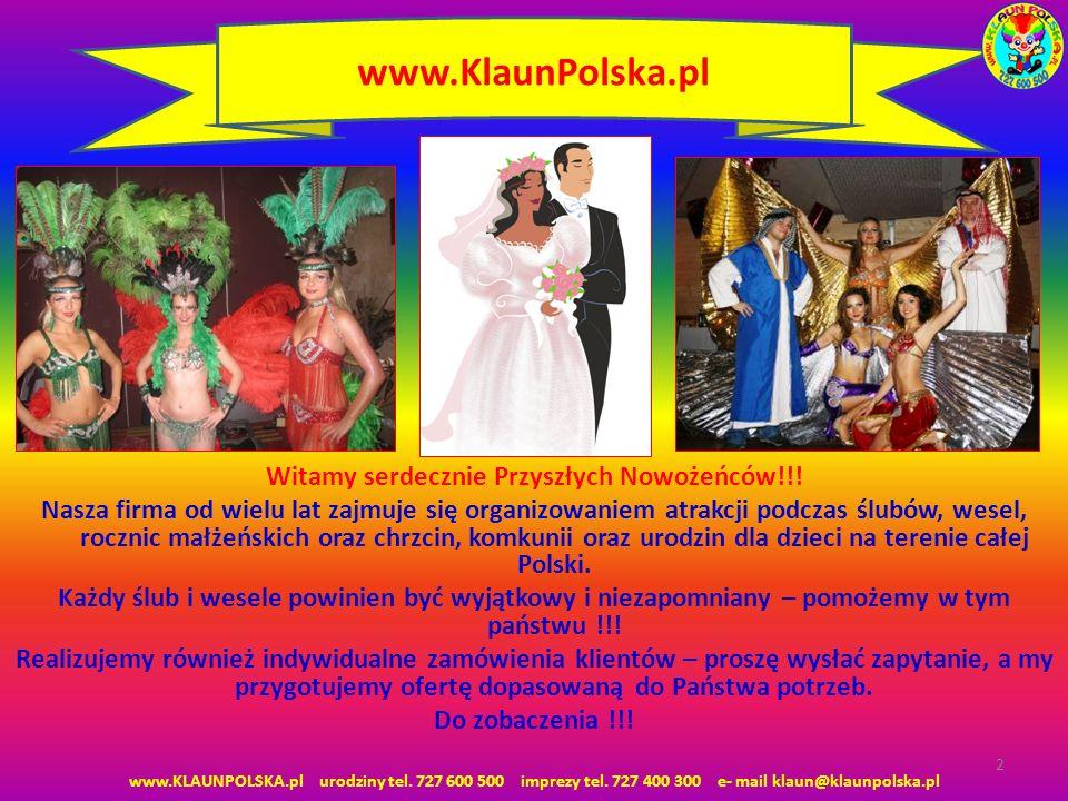 Witamy serdecznie Przyszłych Nowożeńców!!! Nasza firma od wielu lat zajmuje się organizowaniem atrakcji podczas ślubów, wesel, rocznic małżeńskich ora