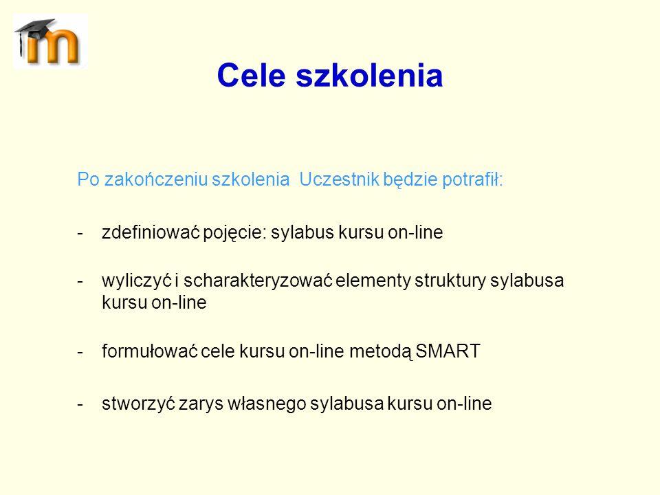 Sylabus kursu on-line to informator zawierający przede wszystkim program nauki, warunki uczestnictwa i politykę oceniania.