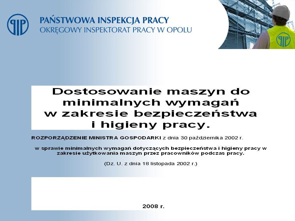 Przepisy przejściowe i końcowe.Maszyny nabyte przed dniem 1 stycznia 2003 r.