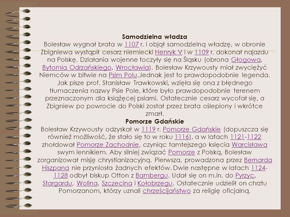 Dzieci Władysław II Wygnaniec (ur. 1105 - zm. 30 V 1159) - książę krakowski i śląski (1138-1146) Leszek (ur. 1115 - zm. 26 VIII przed 1131) Kazimierz