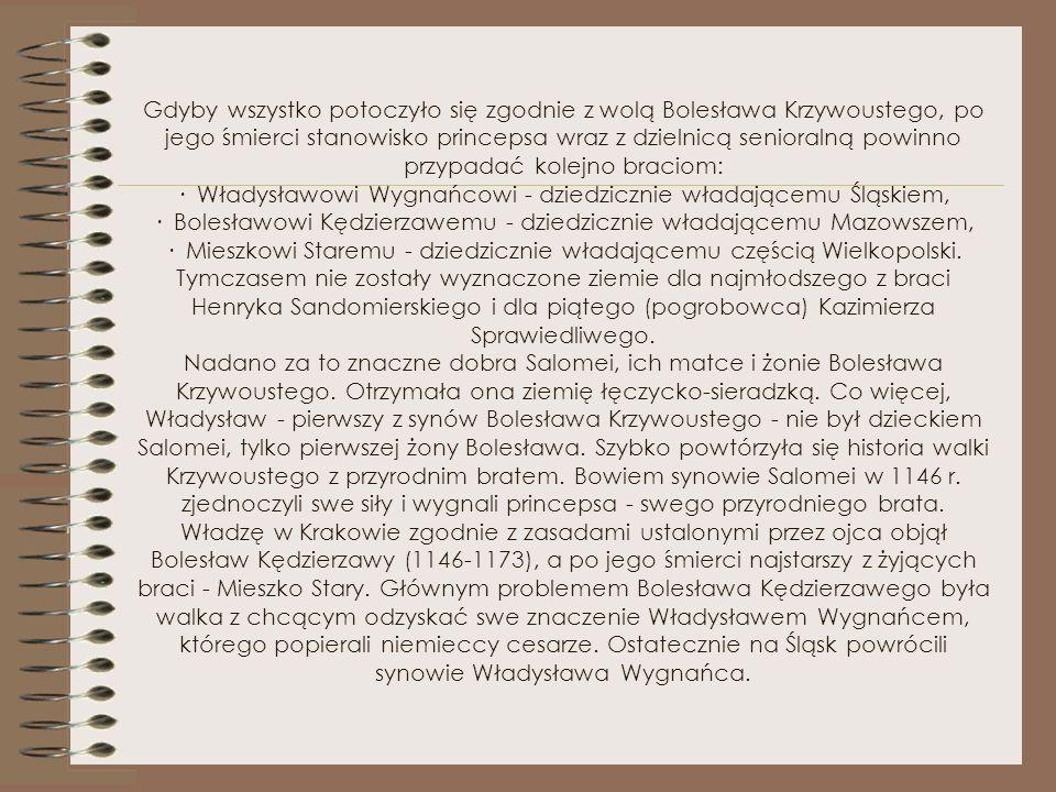Bolesław Krzywousty, Bolesław Kędzierzawy, Mieszko Stary i Władysław Wygnaniec