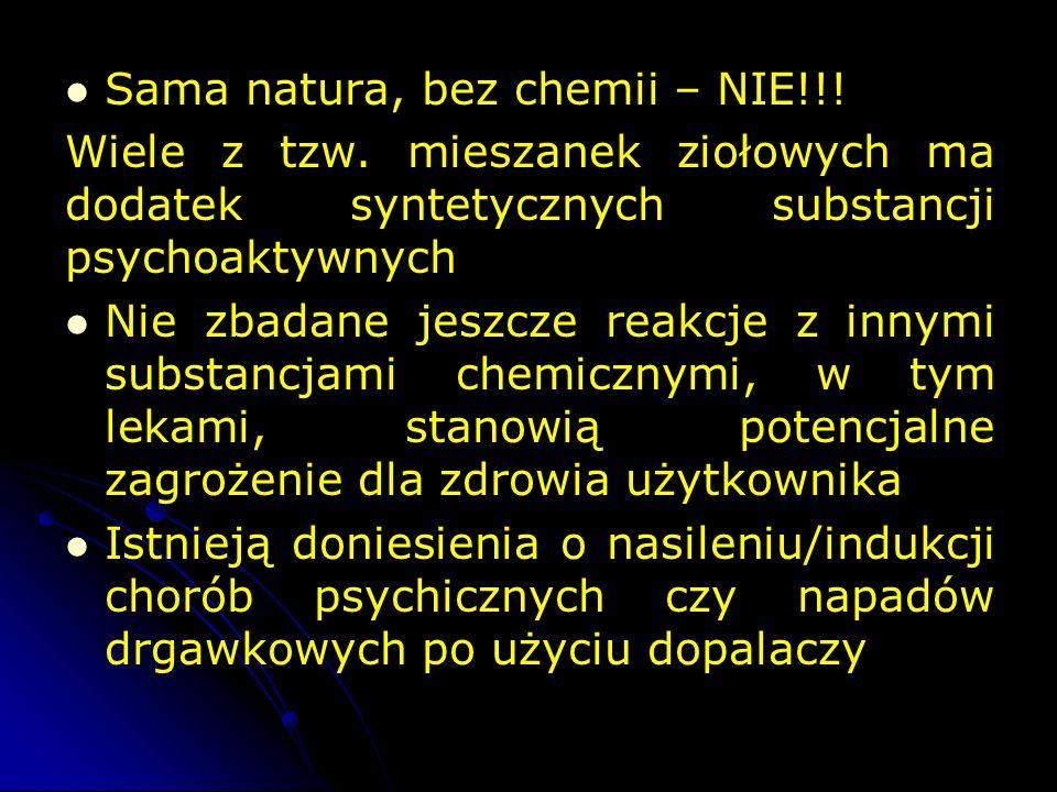 Sama natura, bez chemii – NIE!!.Wiele z tzw.