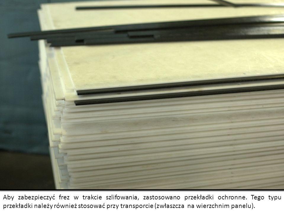 Aby zabezpieczyć frez w trakcie szlifowania, zastosowano przekładki ochronne. Tego typu przekładki należy również stosować przy transporcie (zwłaszcza