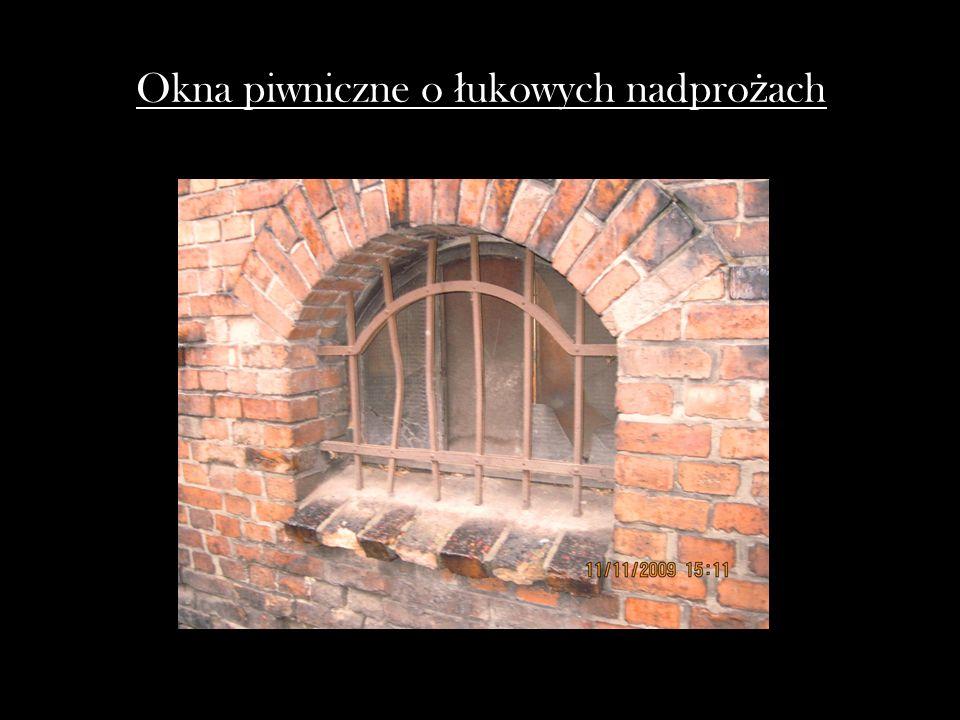 Okna piwniczne o ł ukowych nadpro ż ach