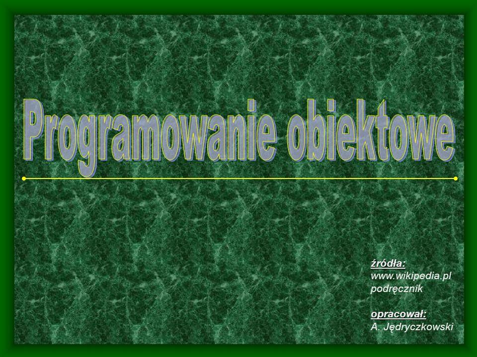 źródła: www.wikipedia.pl podręcznikopracował: A. Jędryczkowski