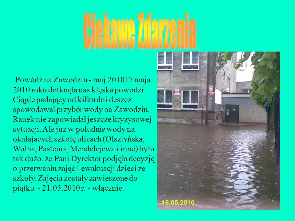 Powódź na Zawodziu - maj 201017 maja 2010 roku dotknęła nas klęska powodzi. Ciągle padający od kilku dni deszcz spowodował przybór wody na Zawodziu. R
