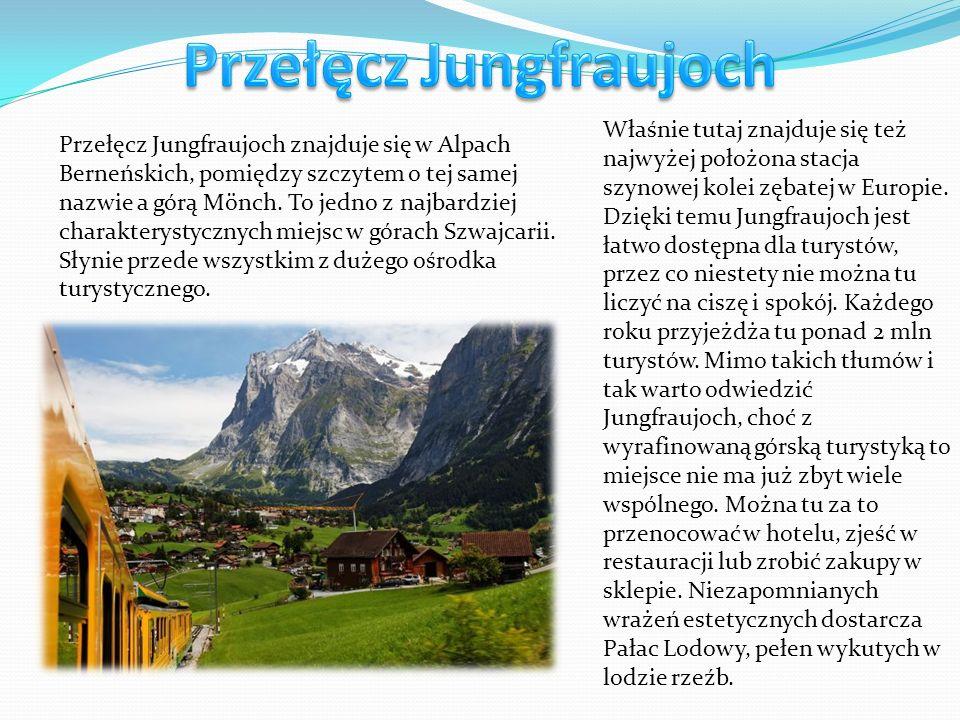 Przełęcz Jungfraujoch znajduje się w Alpach Berneńskich, pomiędzy szczytem o tej samej nazwie a górą Mönch. To jedno z najbardziej charakterystycznych