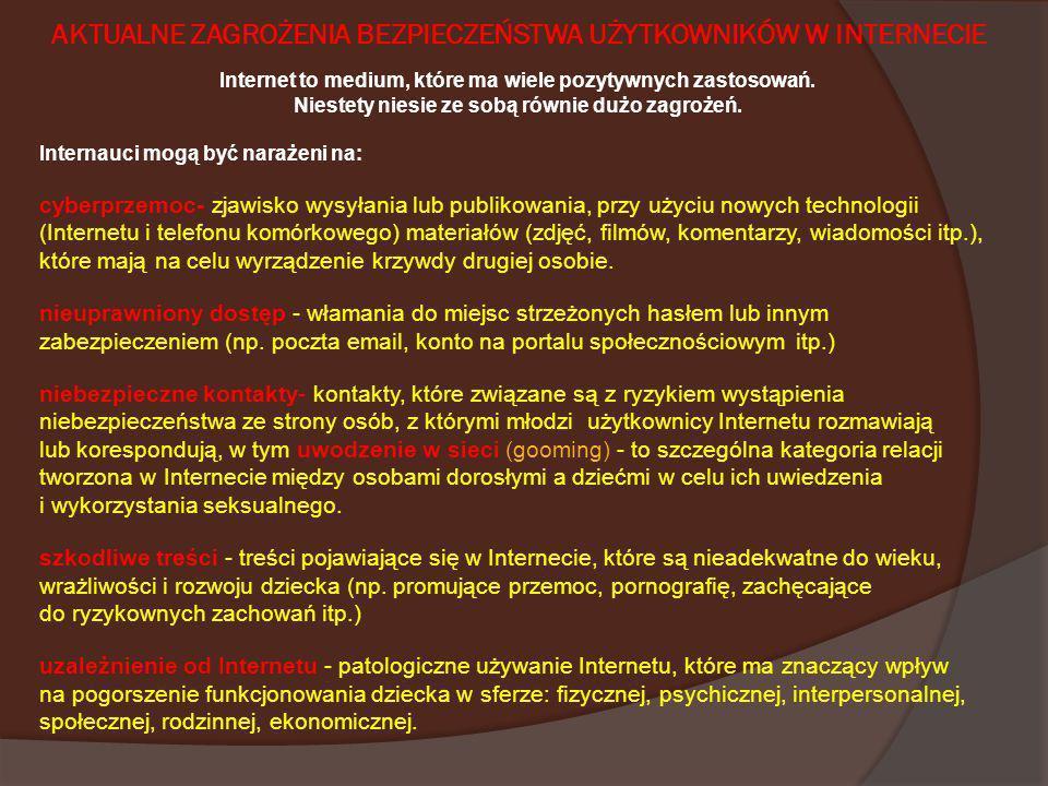 Przydatne kontakty: Telefon Zaufania dla Dzieci i Młodzieży prowadzonego przez Fundację Dzieci Niczyje- 116 111 Helpline.org.pl - wspólny projekt Fundacji Dzieci Niczyje i Fundacji Orange, współfinansowanym przez Komisję Europejską w ramach projektu Safer Internet.