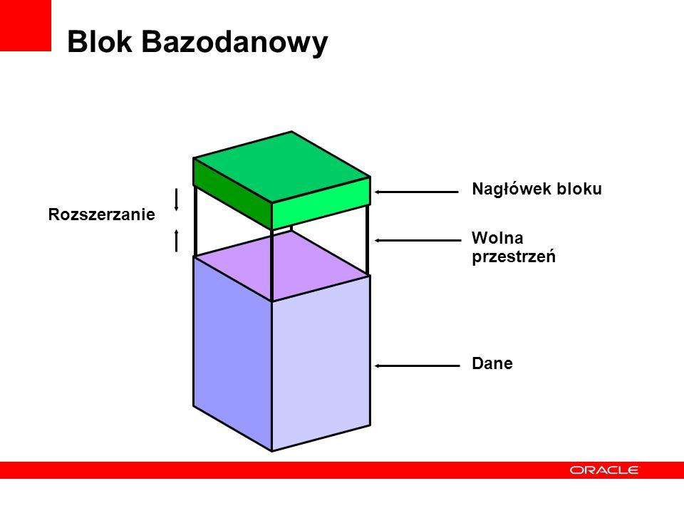 Blok Bazodanowy Nagłówek bloku Wolna przestrzeń Dane Rozszerzanie