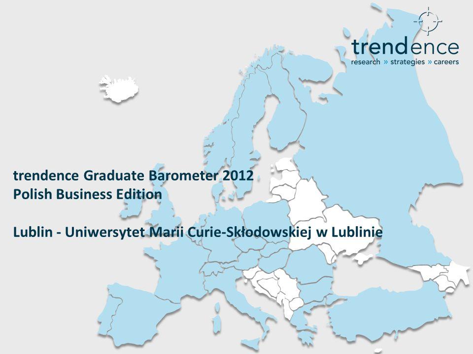 trendence Graduate Barometer 2012 Polish Business Edition Lublin - Uniwersytet Marii Curie-Skłodowskiej w Lublinie