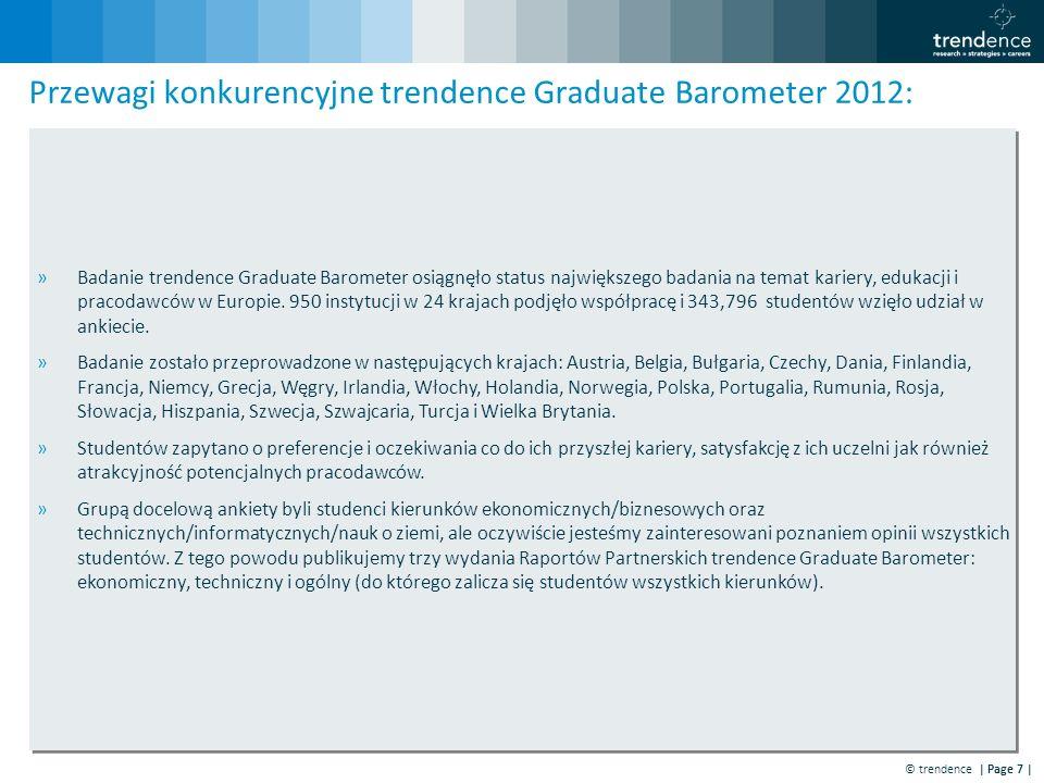 © trendence | Page 7 | »Badanie trendence Graduate Barometer osiągnęło status największego badania na temat kariery, edukacji i pracodawców w Europie.