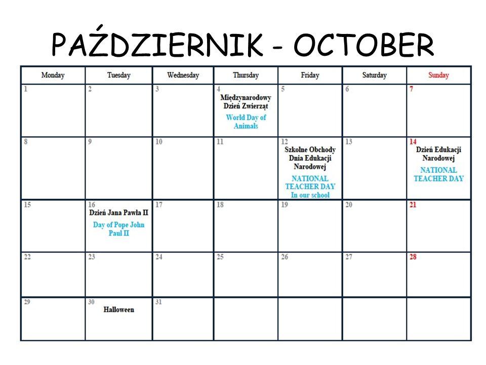PAŹDZIERNIK - OCTOBER