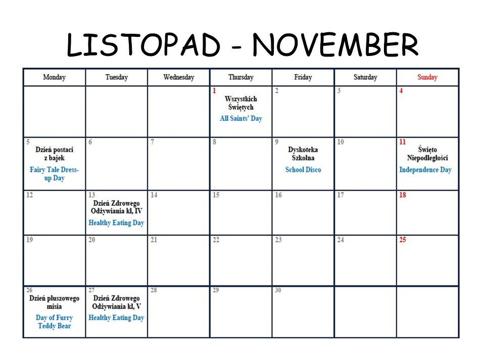 LISTOPAD - NOVEMBER
