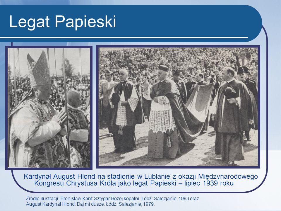 Legat Papieski Kardynał August Hlond na stadionie w Lublanie z okazji Międzynarodowego Kongresu Chrystusa Króla jako legat Papieski – lipiec 1939 roku