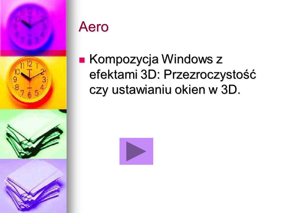 Aero Kompozycja Windows z efektami 3D: Przezroczystość czy ustawianiu okien w 3D. Kompozycja Windows z efektami 3D: Przezroczystość czy ustawianiu oki