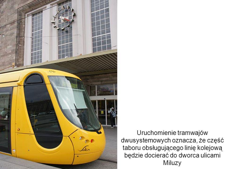 Uruchomienie tramwajów dwusystemowych oznacza, że część taboru obsługującego linię kolejową będzie docierać do dworca ulicami Miluzy Advent of tram-tr