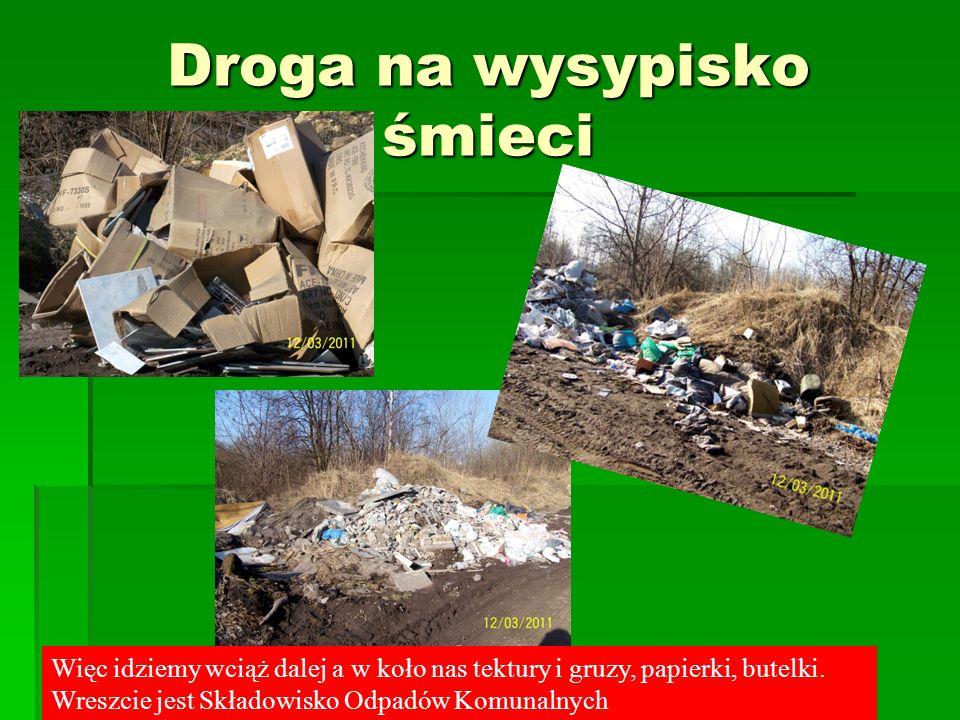 Droga na wysypisko śmieci Nasza Pani też zdezorientowana, to chyba nie tutaj, tak mówi bez przekonania.
